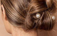 Pearl Bun Updo Hairstyles
