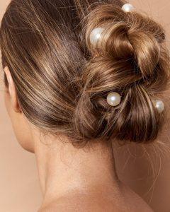 Pearl Bun Updo Hairstyles