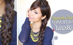 Three Strand Long Side Braided Hairstyles