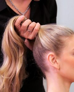 Neat Ponytail Hairstyles With Voluminous Curls