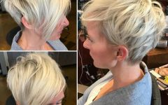Asymmetrical Feathered Bangs Hairstyles with Short Hair