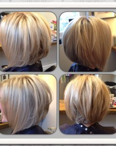 Brown and Blonde Graduated Bob Hairstyles