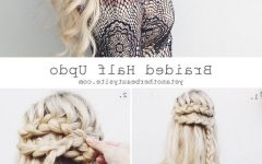 Half Updo Braids Hairstyles with Accessory