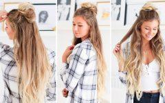 Simple Half Bun Hairstyles