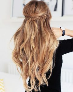 Honey Blonde Fishtail Look Ponytail Hairstyles