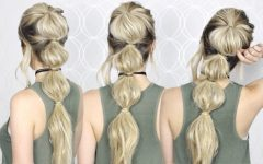 Braided Bubble Ponytail Hairstyles