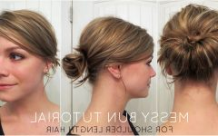Messy Updos for Medium Length Hair