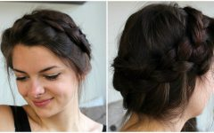 Messy Crown Braid Hairstyles