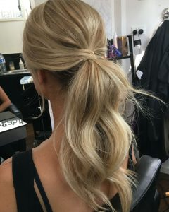 Lustrous Blonde Updo Ponytail Hairstyles