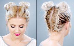 Double Braids Updo Hairstyles