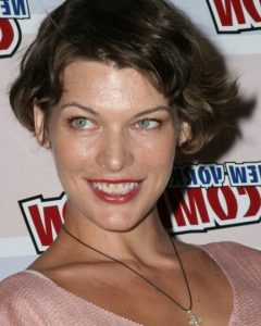 Milla Jovovich Curly Short Cropped Bob Hairstyles