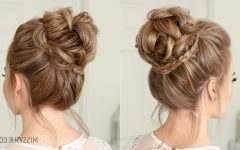 Mini Braided Buns Updo Hairstyles