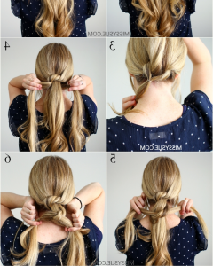 Braided And Knotted Ponytail Hairstyles