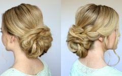 Low Braided Bun Updo Hairstyles