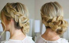 Dutch Braid Updo Hairstyles