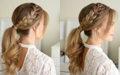 Ponytail and Lacy Braid Hairstyles
