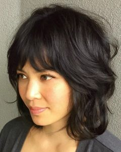 Cool Shag Hairstyles with Feathered Bangs