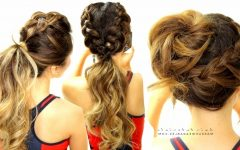 Unique Braided Up-do Ponytail Hairstyles