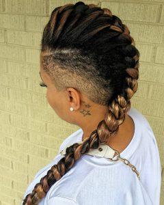 Center Braid Mohawk Hairstyles