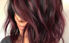 Burgundy Medium Hairstyles