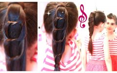 Chain Ponytail Hairstyles