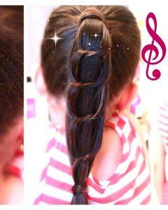 Chain Ponytail Hairstyles