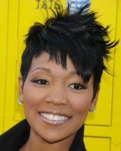 Choppy Asymmetrical Black Pixie Haircuts