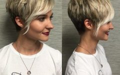 Choppy Pixie Haircuts with Side Bangs