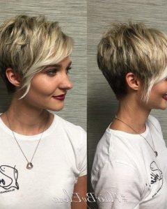 Choppy Pixie Haircuts with Side Bangs