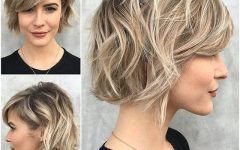 Cropped Tousled Waves and Side Bangs