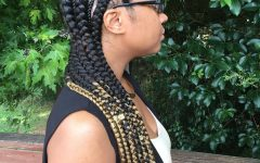 Long Braid Hairstyles with Golden Beads