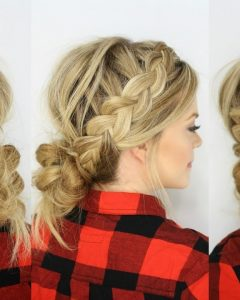 Messy Ponytail Hairstyles With Side Dutch Braid