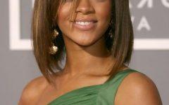 Rihanna Shoulder Length Bob Hairstyles