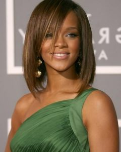 Rihanna Shoulder Length Bob Hairstyles