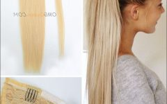 Sexy White-Blond Weave Ponytail Hairstyles