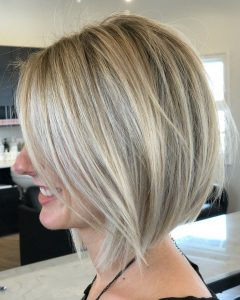 Straight Tousled Blonde Balayage Bob Hairstyles