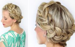 Voluminous Halo Braided Hairstyles