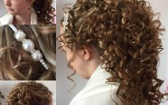 Big and Fancy Curls Bridal Hairstyles
