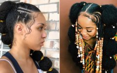 Braids and Gold Ponytail Hairstyles