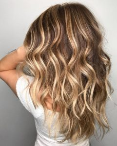 Curls Hairstyles with Honey Blonde Balayage