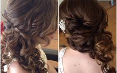Fancy Updo with a Side Ponytails