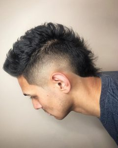 Gray Faux Hawk Hairstyles