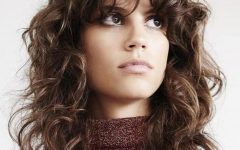 Long Curly Shag Hairstyles With Bangs
