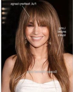 Long Hairstyles with Full Fringe