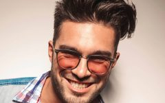 Medium Haircuts for People with Glasses