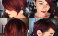 Reddish Brown Layered Pixie Bob Hairstyles