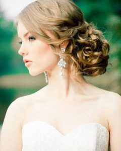 Wedding Hairstyles For Long Hair And Strapless Dress