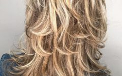 Bronde Shaggy Hairstyles with Feathered Layers