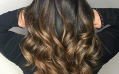 Curly Golden Brown Balayage Long Hairstyles