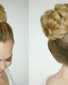 High Bun Hairstyles with Braid